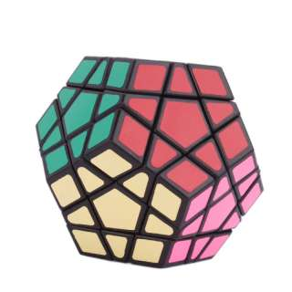 Brand New 12 Color Magic Cube Puzzle Toy Polygonal Hot Sell Black