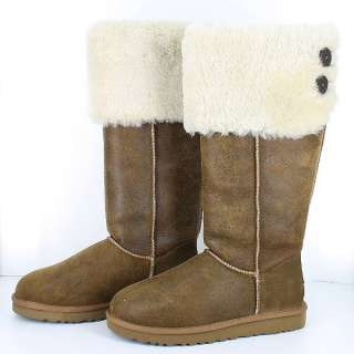 UGG AUSTRALIA   3172 OVER THE KNEE BAILEY BUTTON CHESTNUT WOMENS US