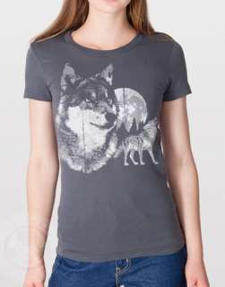 Vintage 80s Wolf American Apparel 2102 Wolves T Shirt