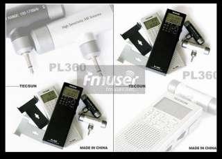 Tecsun PL 360 portable digital DSP AM/FM/shortwave PLL radio receiver