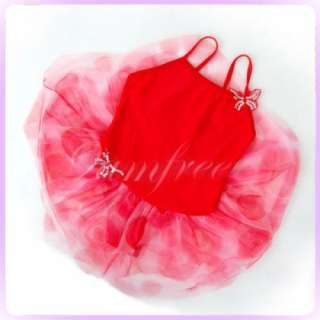 Fairy Dance costume Leotard Ballet Dress Tutu 5 6yr Red