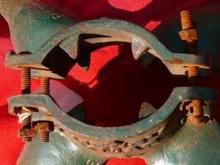 VINTAGE CAST IRON CHRISTMAS TREE STAND BROCKVILLE 1931
