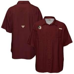 Florida State Seminoles (FSU) Garnet Tamiami Performance Fishing Shirt