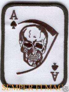 ACE OF SPADES PATCH SKULL GRIM REAPER DEATH CARD WOW