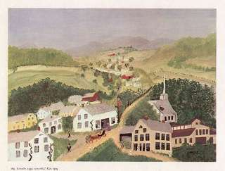 GRANDMA MOSES print LINCOLN FUNERAL TRAIN