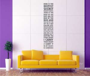 Hight 170cm Words Vinyl Wall Paper Decal Art Sticker T166