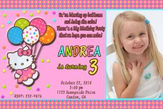 Hello Kitty Personalized Birthday Party Invitation