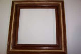 Wide Light Walnut Solid Wood Picture Frames Distressed