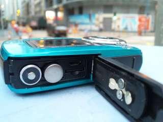 Blue 18MP underwater digital camera, 3m Waterproof Dual Screen