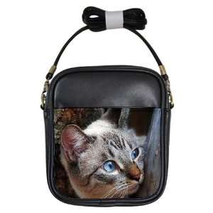 Cute Blue Eye Kitty Girl Sling Bag