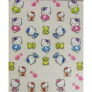 XH 3D hello kitty nail stickers decals pretty and cute Beauty