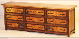Reclaimed Wood Dresser with Copper Trim Furniture NEW