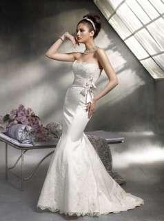 Strapless Silk Lace Mermaid Wedding Dress mdl# Lazaro