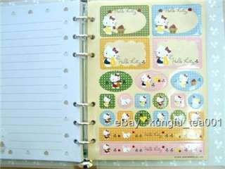 Sanrio Hello Kitty Hardcover Note Book Diary + Stickers