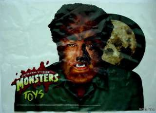 VINTAGE BURGER KING WOLFMAN UNIVERSAL MONSTERS TOYS WINDOW STORE