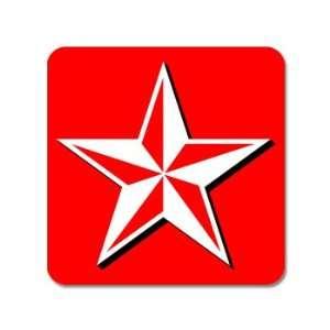 Nautical Star Red   Window Bumper Sticker Automotive