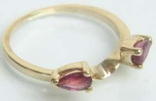 LADIES 14K SOLID GOLD 1/2 CARAT RUBY WRAP ESTATE RING