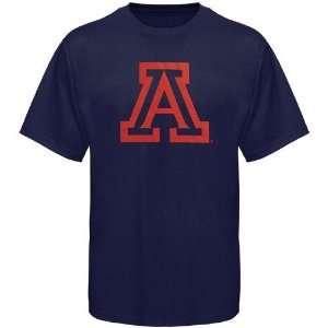NCAA Arizona Wildcats Navy Blue Logo One T shirt Sports