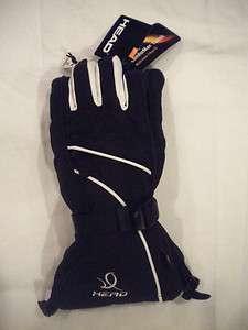 NWT HEAD BLACK ski GLOVE Snowboard Winter Sport Waterproof Women S/M/L