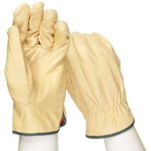 West Chester 994KF Leather Glove, Knit Wrist Cuff, 9.75 Length