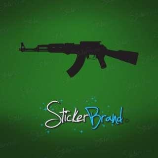 Vinyl Wall Decal Sticker AK47 Military Gun