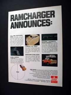 Winnebago Winnie RD Motorhome RV 1974 print Ad