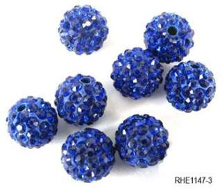10 20pc 10mm CZ Disco Ball Pave Crystal Rhinestone Spacer Beads DIY