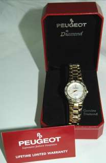 Peugeot Genuine Diamond & Mother of Pearl Ladies Wrist Watch Original