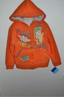 Phineas and Ferb Sweatshirt Hoodie Shirt Jacket 4 5 6 7 8 10 12 14 16