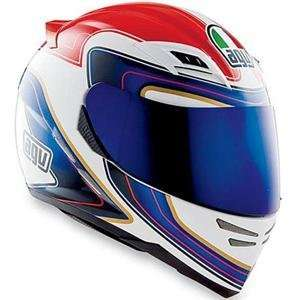 AGV Stealth SV Stile Helmet   Small/White/Red/Blue
