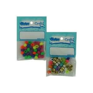 assorted pony beads   Pack of 25: Toys & Games