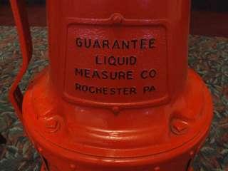 1920s Fry Mae West Guarantee Visible Gas Pump Texaco Sky Chief Glass