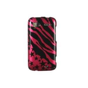 HTC Sensation 4G Graphic Case   Hot Pink Zebra With stars
