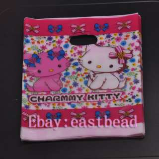 FREE SHIP 50pcs Kitty Plastic Gift Bags EB6983 180mm