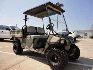 2000 CLUB CAR GOLF CART GAS CAMO FLAT BED CUSTOM WHOLESALE 888 692