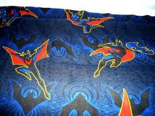 DC Comics 1999 BATMAN Twin Flat sheet / Fabric Dark Knight cartoon