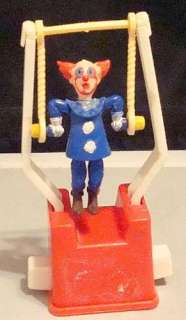 Vintage 1960s BOZO The CLOWN Trapeze Toy! WORKS! NICE! NR! L@@KIE