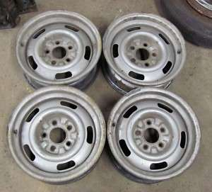 67 Corvette 15X6 Rally Wheels B Code EARLY 1967 Set 4