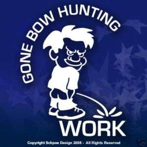 Gone Bow Hunting window decal hunt deer Hunter sticker