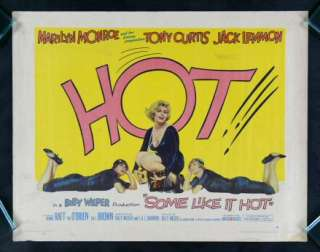 SOME LIKE IT HOT * 1959 MARILYN MONROE MOVIE POSTER