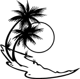 Palm Tree Vinyl Decal Car Truck Boat Window Sticker
