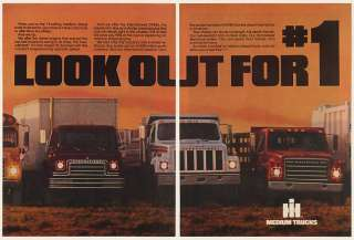 1981 IH International Harvester Medium Diesel Trucks 3 Page Ad