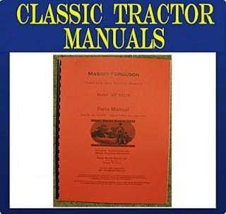 Massey Ferguson MF 832/8 Garden Tractor Parts Manual