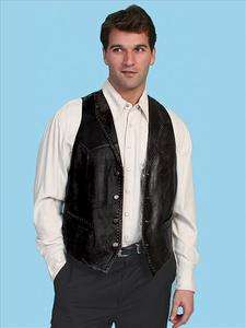 Scully Mens #206 Whip Stitch Brown Lamb Leather Vest