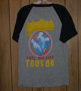 Judas Priest Concert Tour T Shirt Vintage 1986 Rare