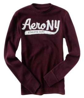 Aeropostale mens long sleeve thermal sweatshirt sweater