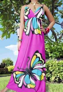 NEW NWT Butterfly Summer/Beach/Evening Women Long Maxi dress Size M