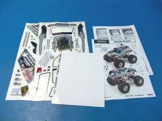 HPI Wheely King Bounty Hunter Clear Lexan Body R/C 1/10 Monster Truck