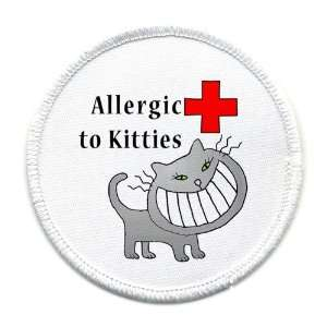 ALLERGIC TO CATS Medical Alert Symbol 4 inch Sew on Patch