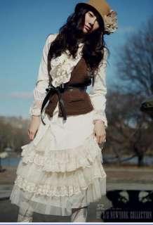 957 Korean Fashion Lovely Feminine Off White Layered Floral Lace Cake